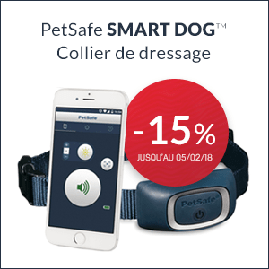 -15% sur le collier de dressage PetSafe Smart Dog jusq'au 24/12/2017