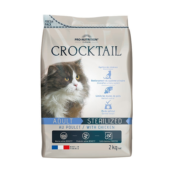 Flatazor Pro-Nutrition Crocktail Chat Sterilized Poulet - 2 Kg
