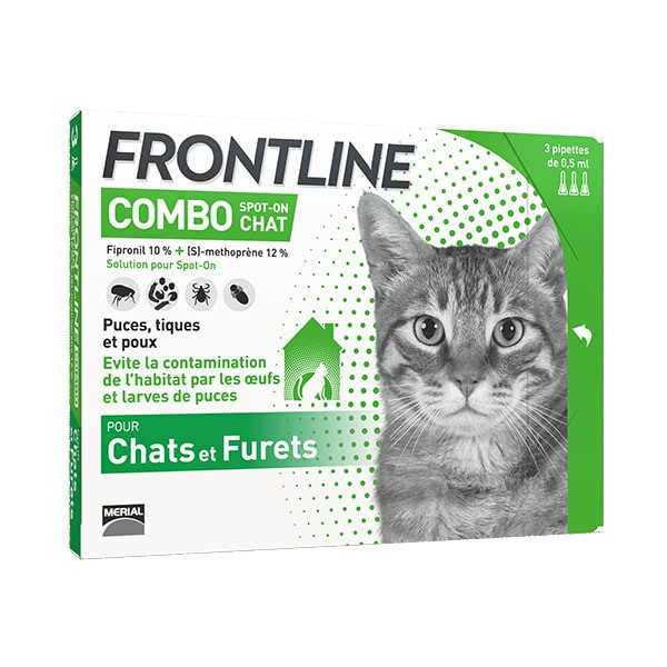Frontline Combo Chat - Pack 12 Pipettes