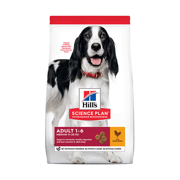 Hill's Science Plan Canine Adult Medium Poulet