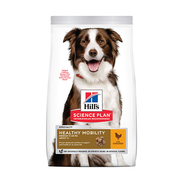 Hill's Science Plan Canine Adult Healthy Mobility Medium Poulet -14kg