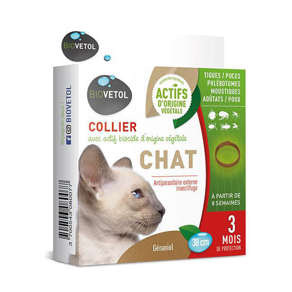 Biovetol Collier Insectifuge pour Chat