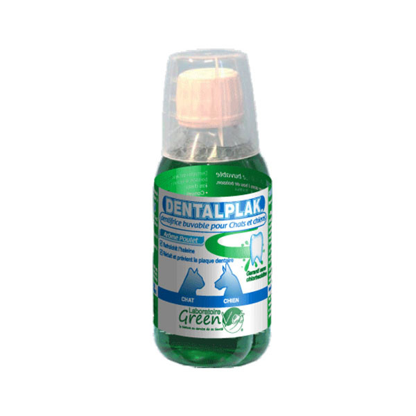 Greenvet Dentalplak Dentifrice Buvable au Poulet - 250 ml