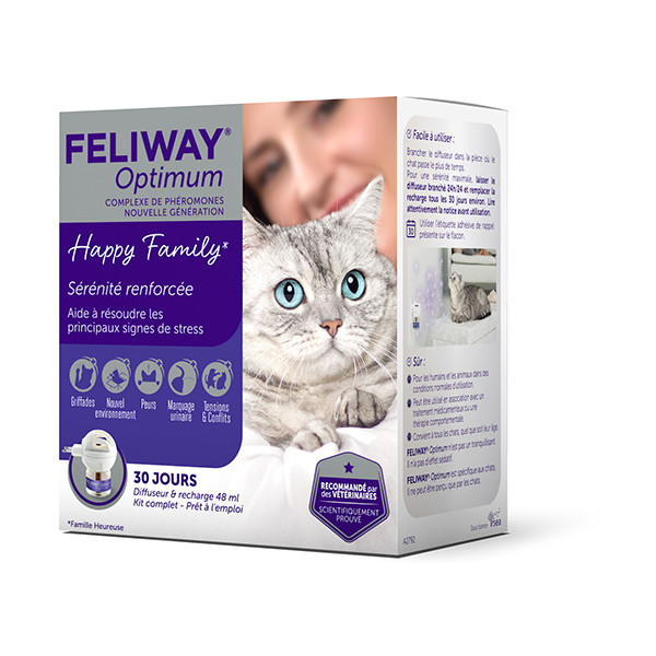 Feliway Optimum Diffuseur + Recharge - 48 ml