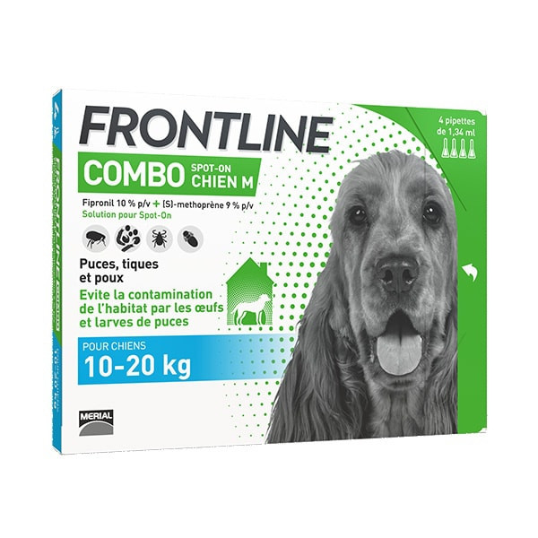 Frontline Combo M Chien (10-20 kg) - Pack 36 pipettes