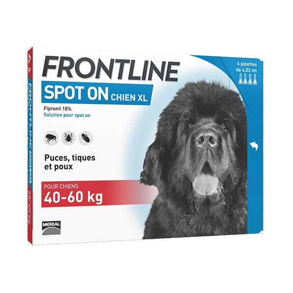 Frontline Spot-On XL Chien (>40 kg) - 4 pipettes
