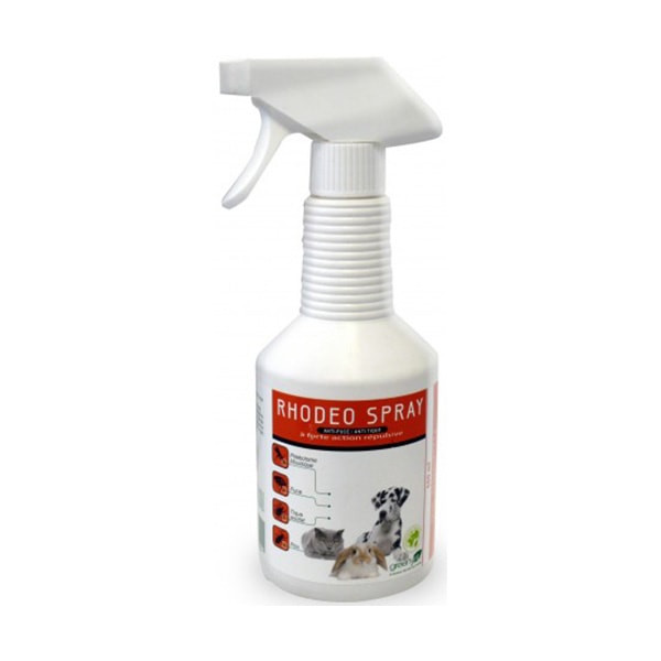 Greenvet RHODEO Spray Anti-Puces Anti-Tiques - 500 ml