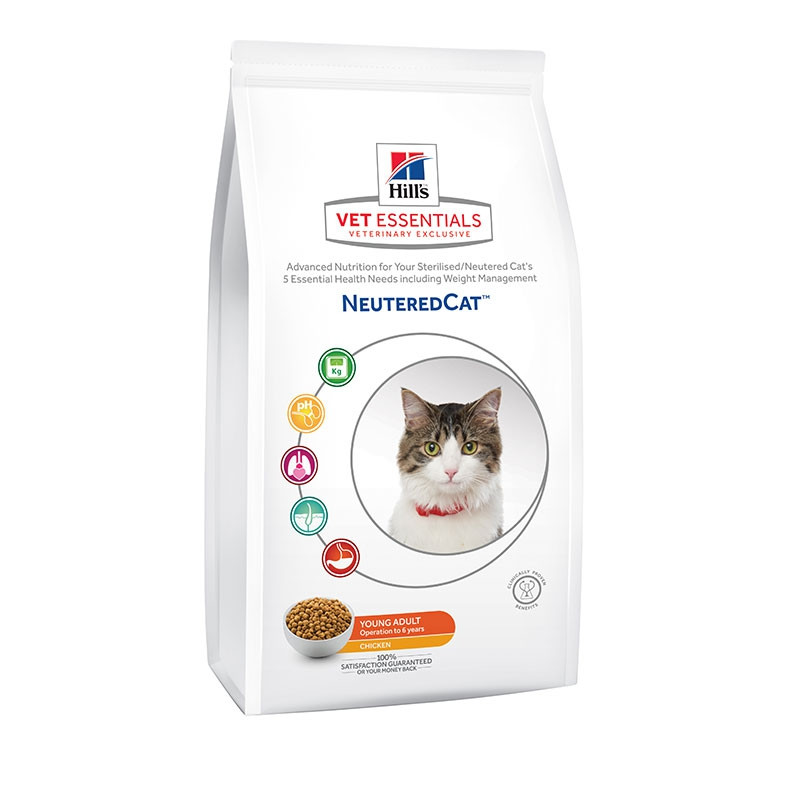 Hill's VetEssentials Feline Neutered Young Adult Poulet - 8 Kg