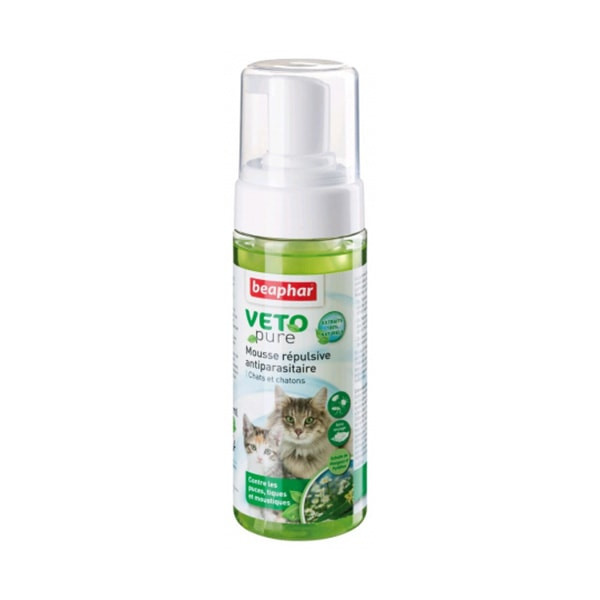 "Beaphar ""Vetopure"" Mousse Antiparasitaire pour Chat - 150 ml"