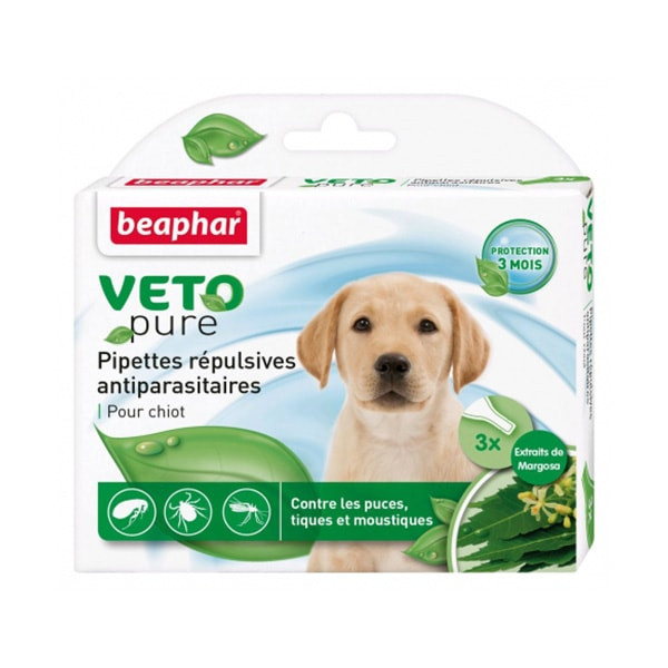 "Beaphar ""Vetopure"" Antiparasitaire pour Chiot - 3 pipettes"